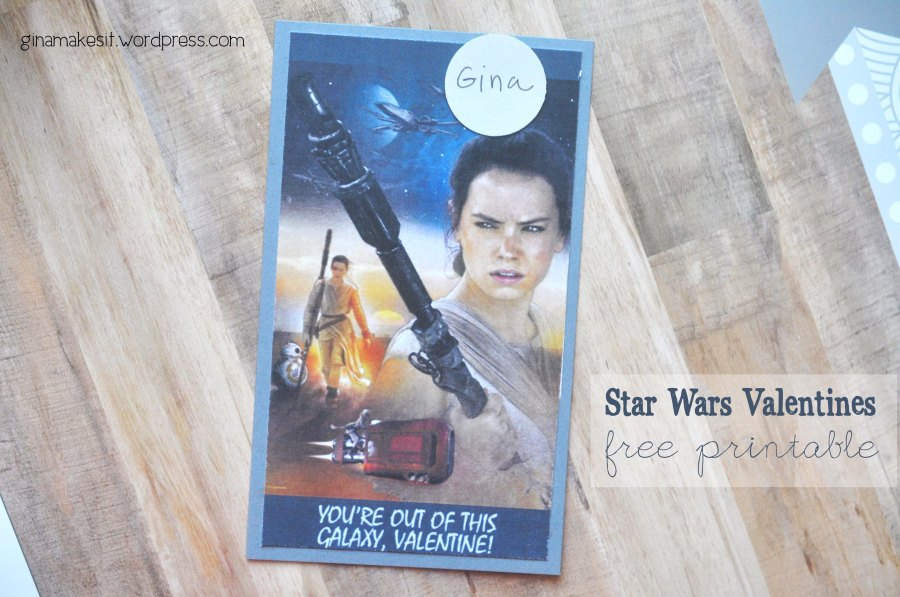 Stars Wars Valentine's Day Cards: Free Printable