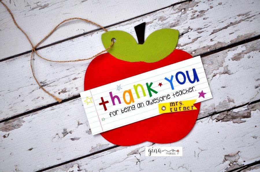 Teacher Appreciation Apple