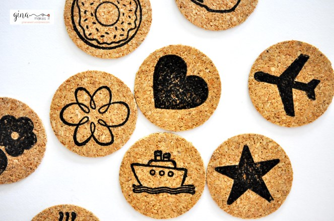 DIY Cork Embellishments - Gina Makes It