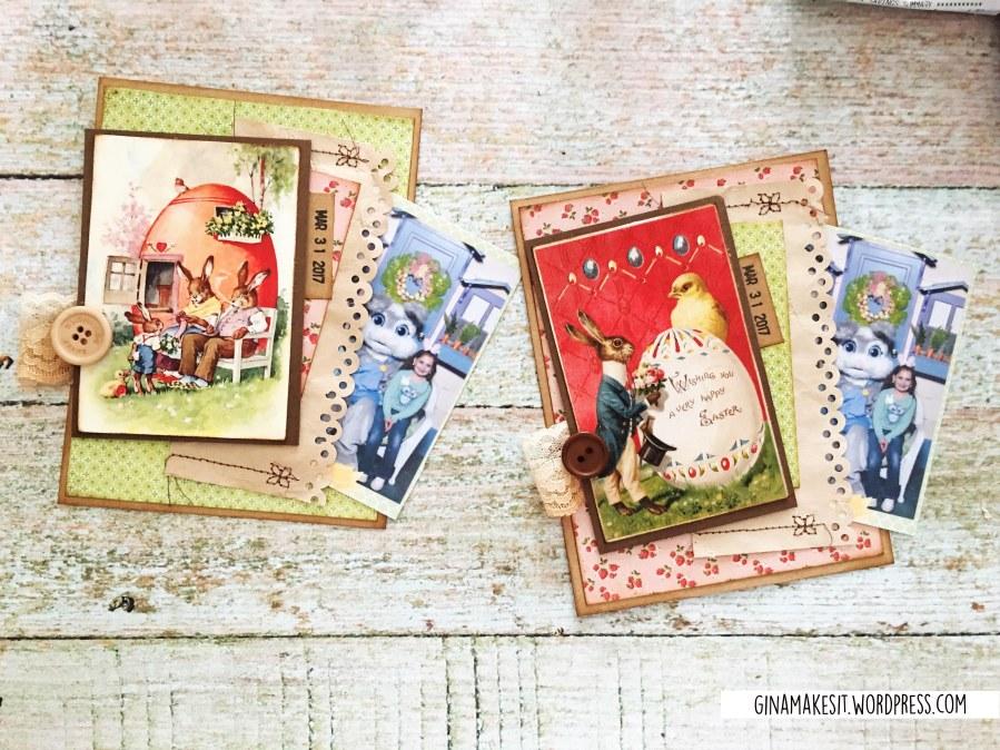 Vintage Easter Cards With HiddenPocket